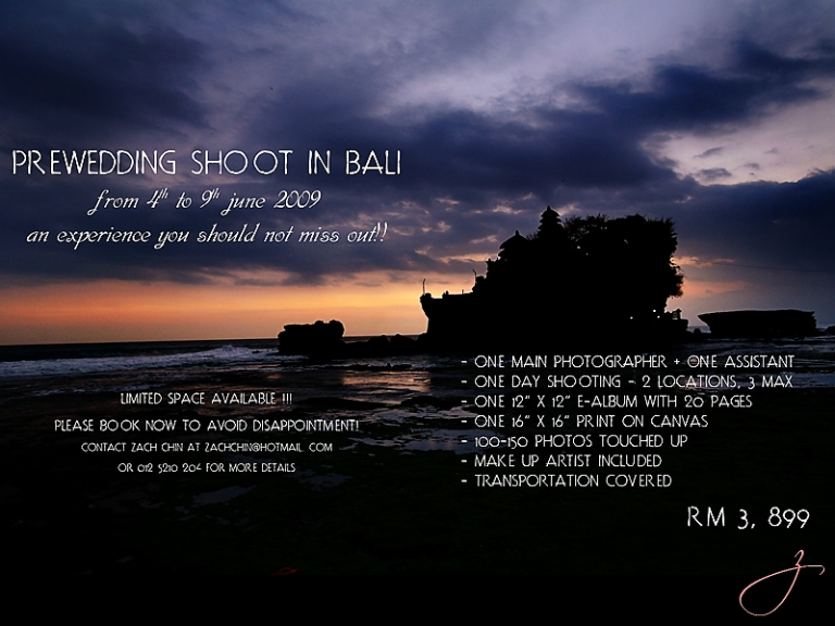 Bali Prewedding Package Launched Finally Zach Chin Photography Malaysia Wedding Photographer